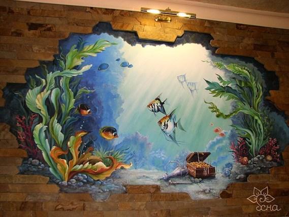 Барельеф с рыбками
