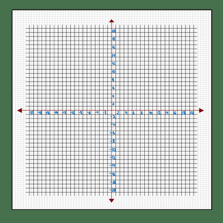 20x20 graph paper