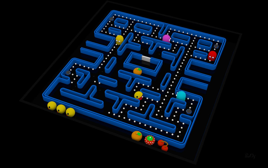 Pacman Wallpaper Iphone X Pacman Fever 3d Wallpaper 2 In Uhd For Desktops By