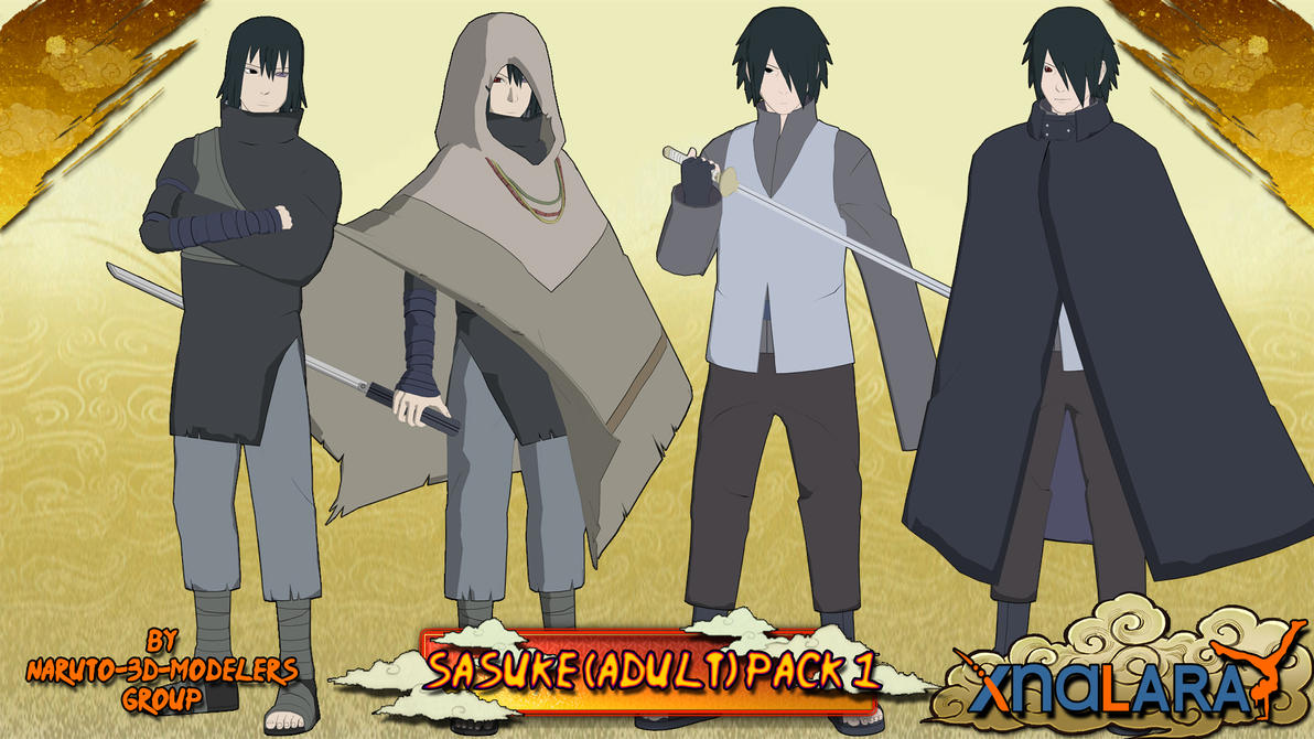 Naruto Sasuke Uchiha Adult PACK 1 FOR XPS By MVegeta