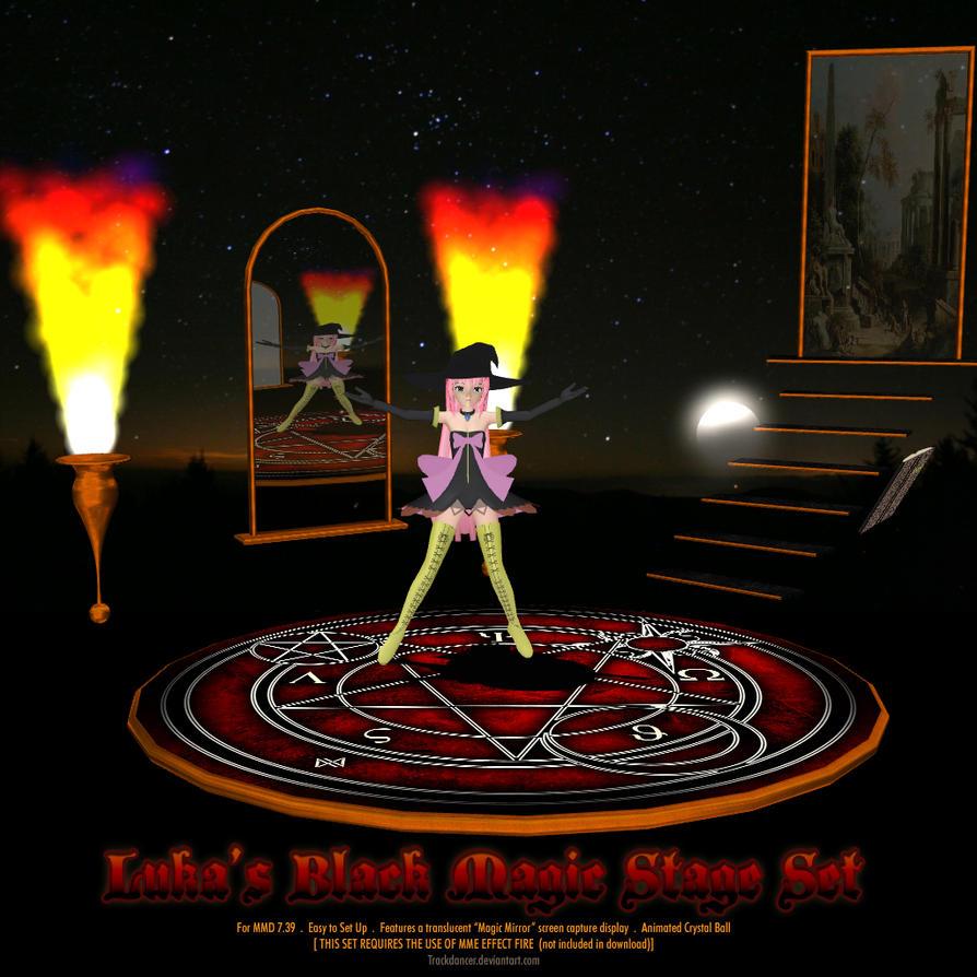 Vocaloid Anime Wallpaper Mmd Luka S Black Magic Stage Set By Trackdancer On Deviantart