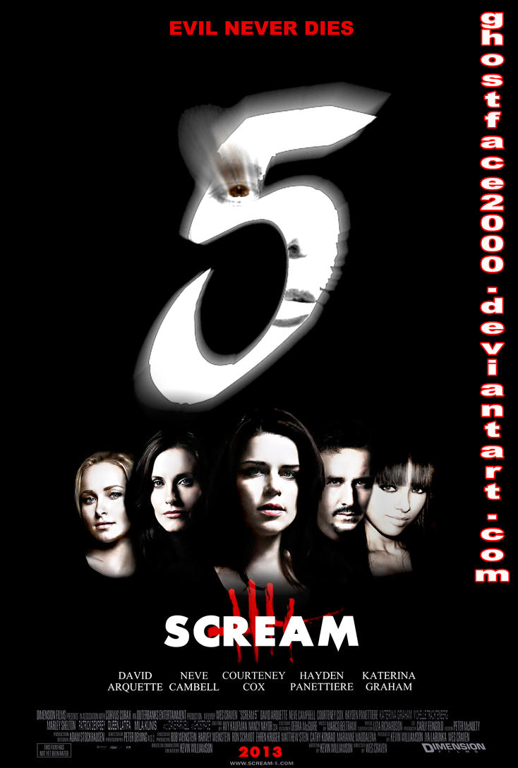 Scream part is 0:45 please i really need ur help :)? Scream 5 - Cast Poster by Ghostface2000 on DeviantArt