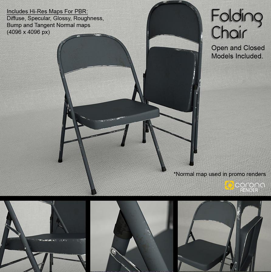 Free 3D Model Metal Folding Chair by LuxXeon on DeviantArt