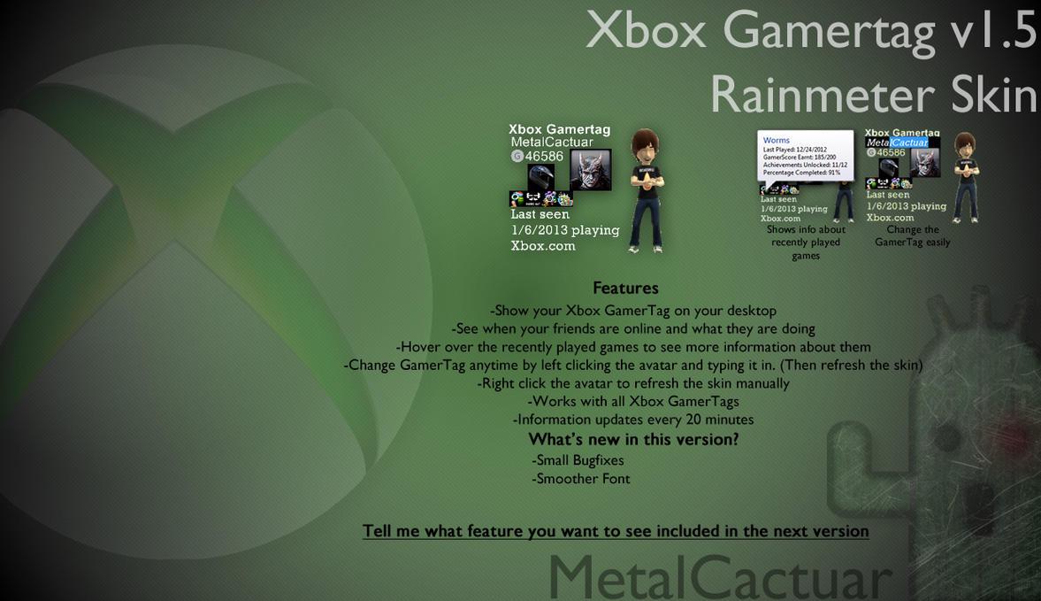 Xbox Gamertag Viewer V150 By MetalCactuar On DeviantArt
