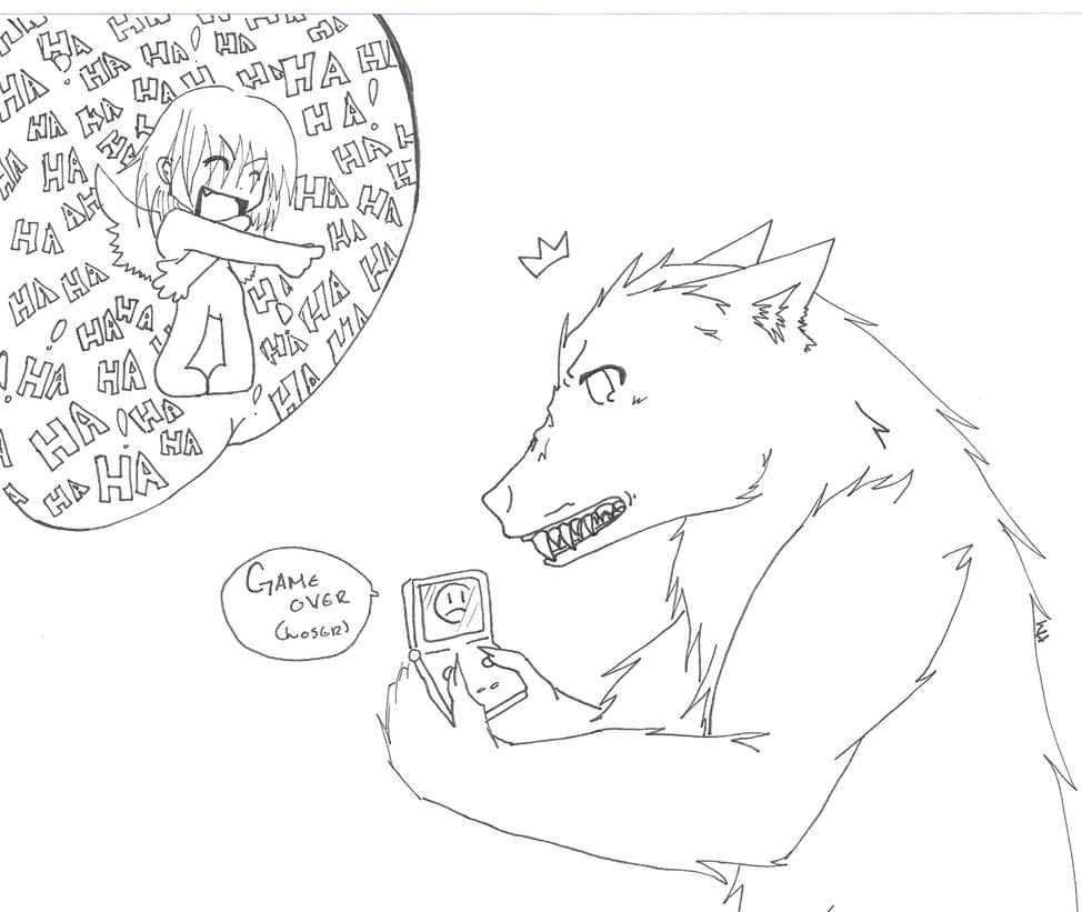 Ari with his Game boy by Sickness335 on DeviantArt