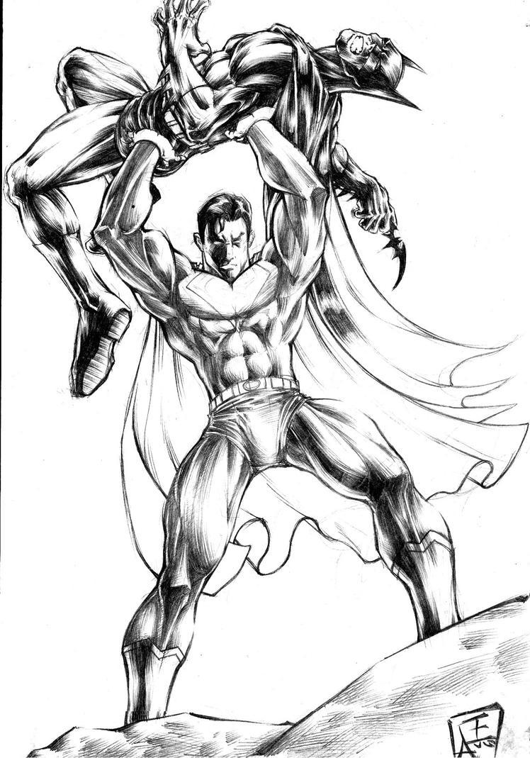 batman vs. superman by omegaseraphx on DeviantArt