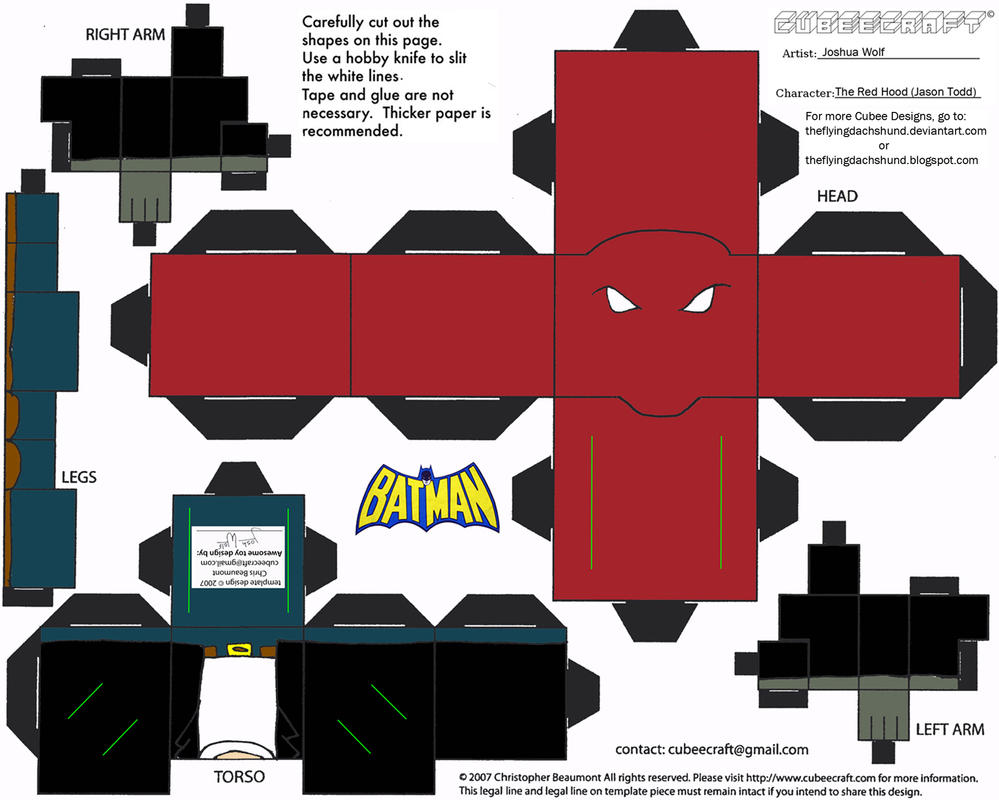 DC SH 6 The Red Hood II Cubee by TheFlyingDachshund on