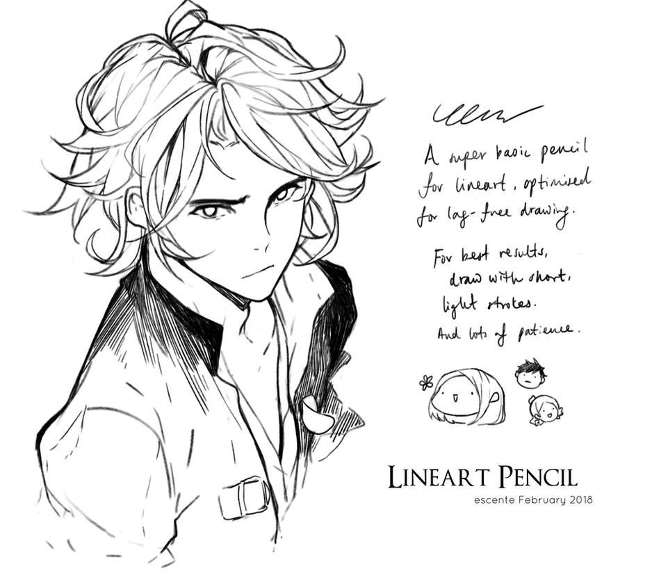 Lineart Pencil for CLIP Studio Paint by Escente on DeviantArt