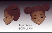 bun hair peachmilk3d