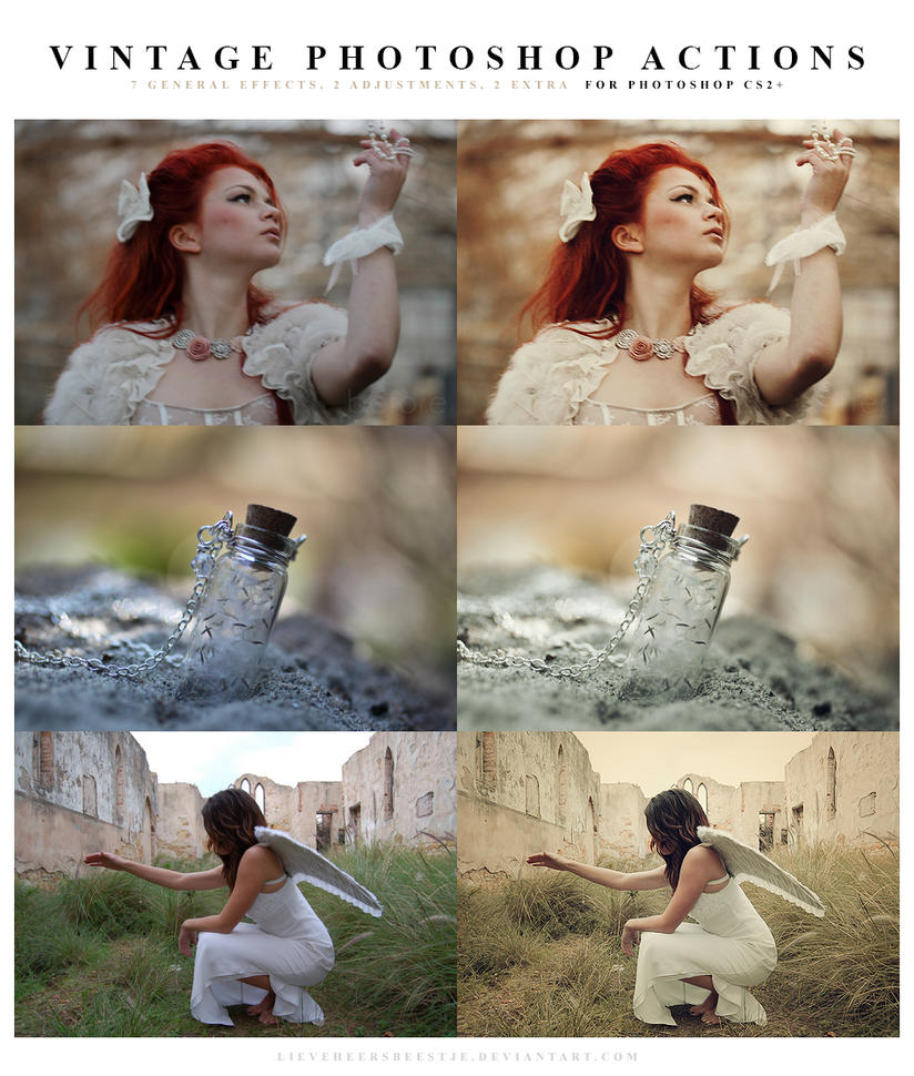 Photoshop Vintage Actions by lieveheersbeestje
