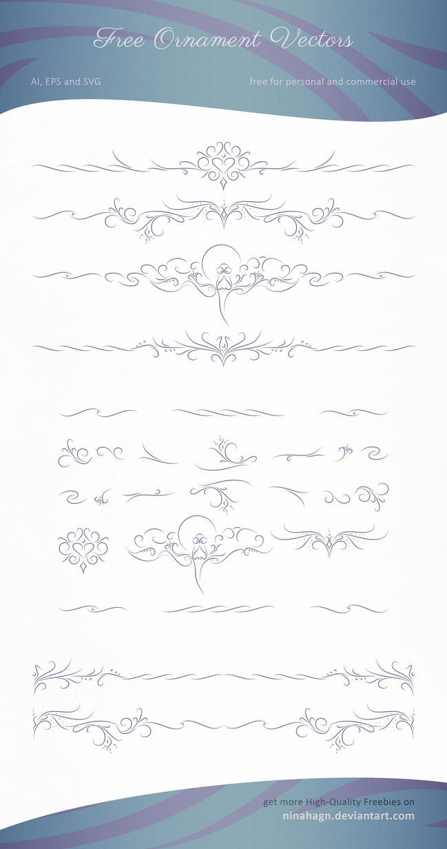 download free ornament vector graphics