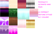 ultimate hair texture pack 14 styles
