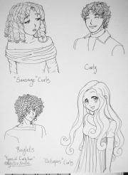 types of curly hair threshie