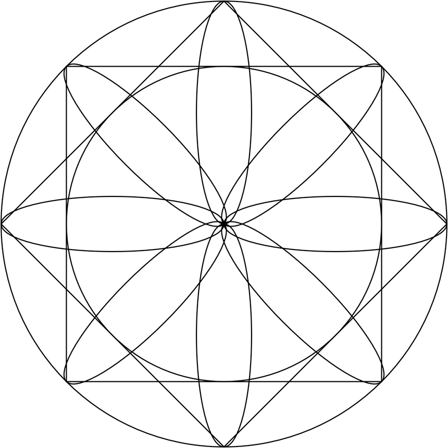 Geometric exploration mandala by LilFluff on DeviantArt