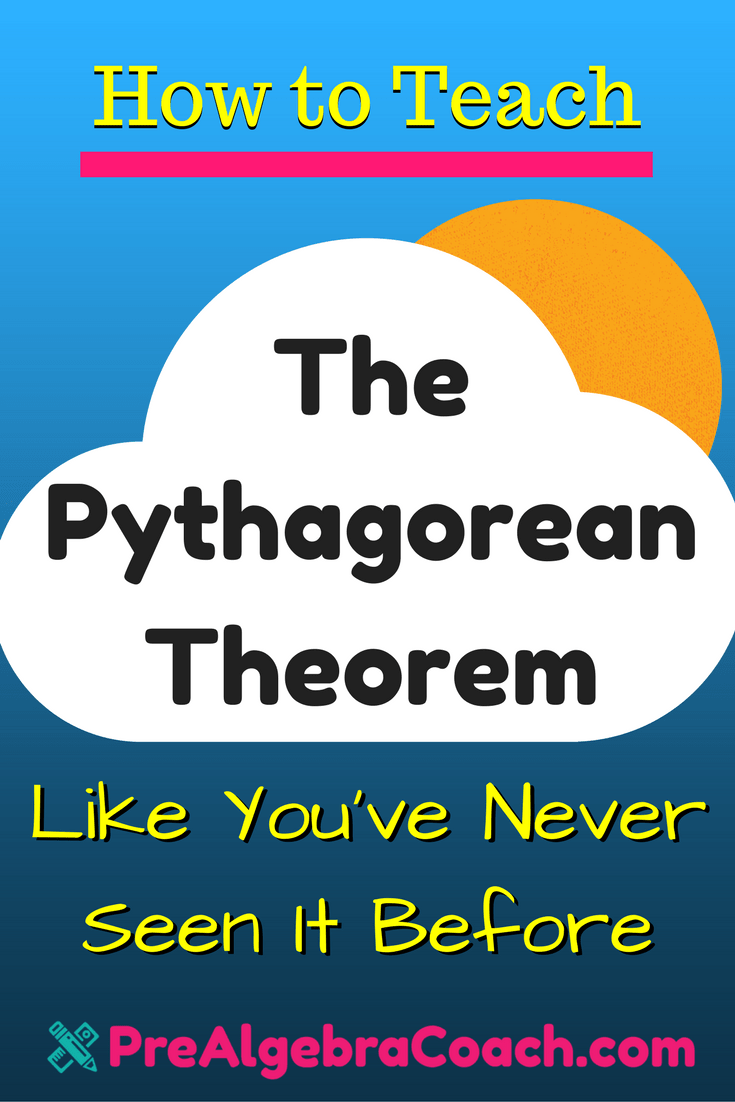 The Pythagorean Theorem - Pinterest