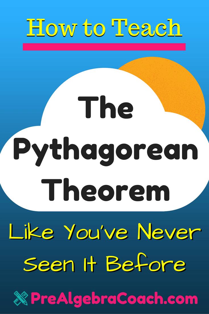 The Pythagorean Theorem - Pinterest