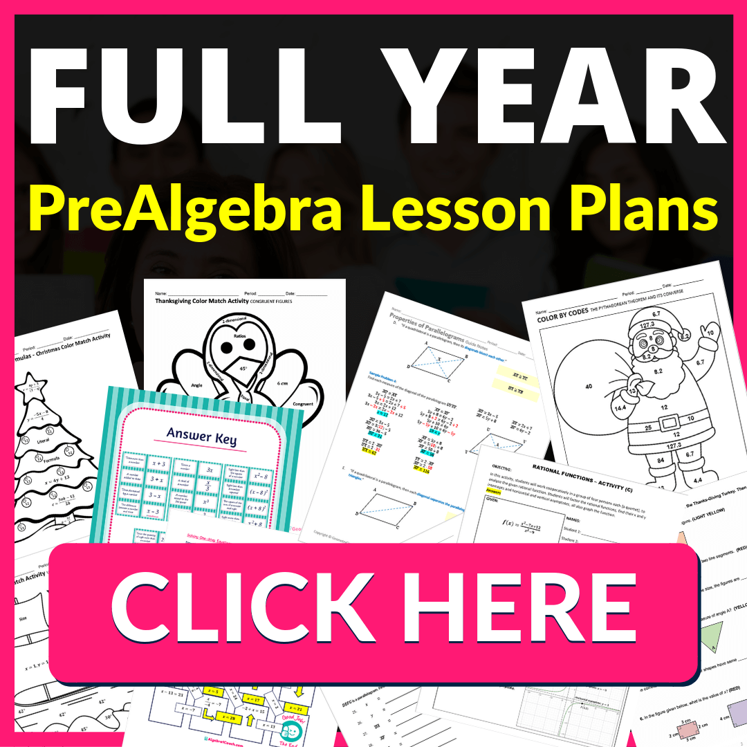 FREE Thanksgiving Math Coloring Worksheets ⋆ PreAlgebraCoach.com [ 1080 x 1080 Pixel ]