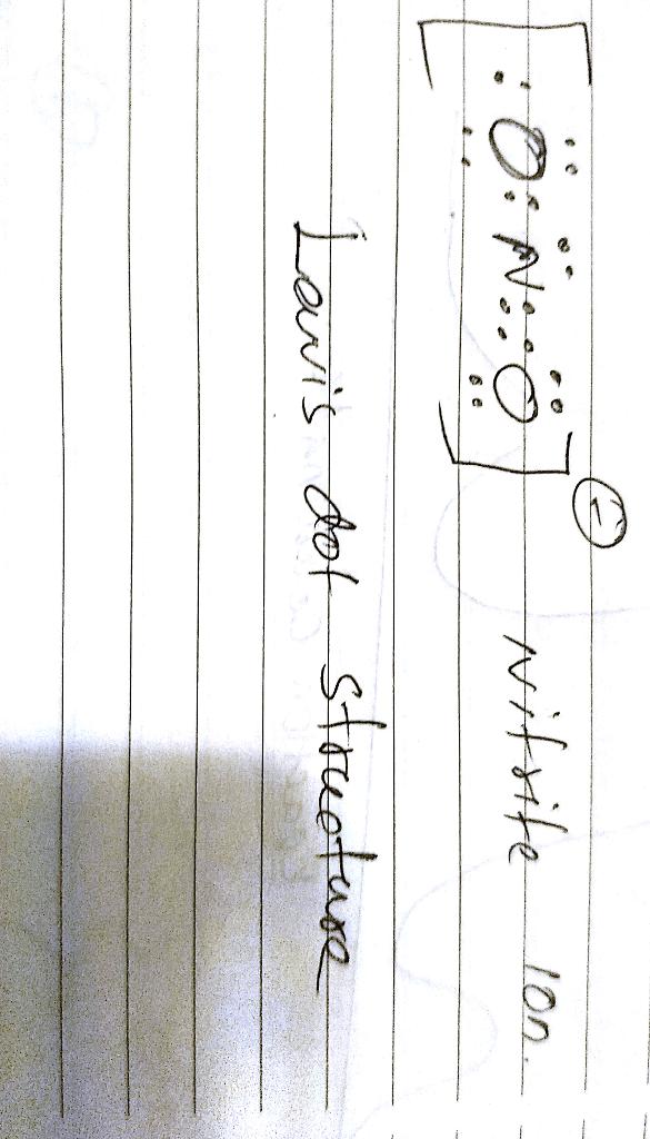 Nitrite Ion Lewis Structure : nitrite, lewis, structure, OneClass:, Lewis, Structure, Nitrite, Below., Account