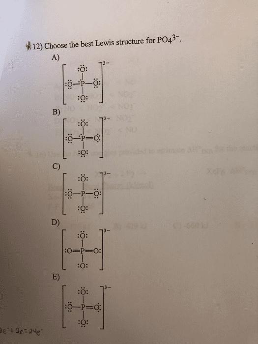 Po4^3- Lewis Structure : po4^3-, lewis, structure, OneClass:, Which, Molecule, Contains, Polar, Bonds?