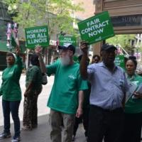 81% of AFSCME Illinois state workers vote for strike authorization.