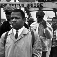 John Lewis and Donald Trump.