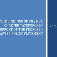 NEA's charter school policy statement.