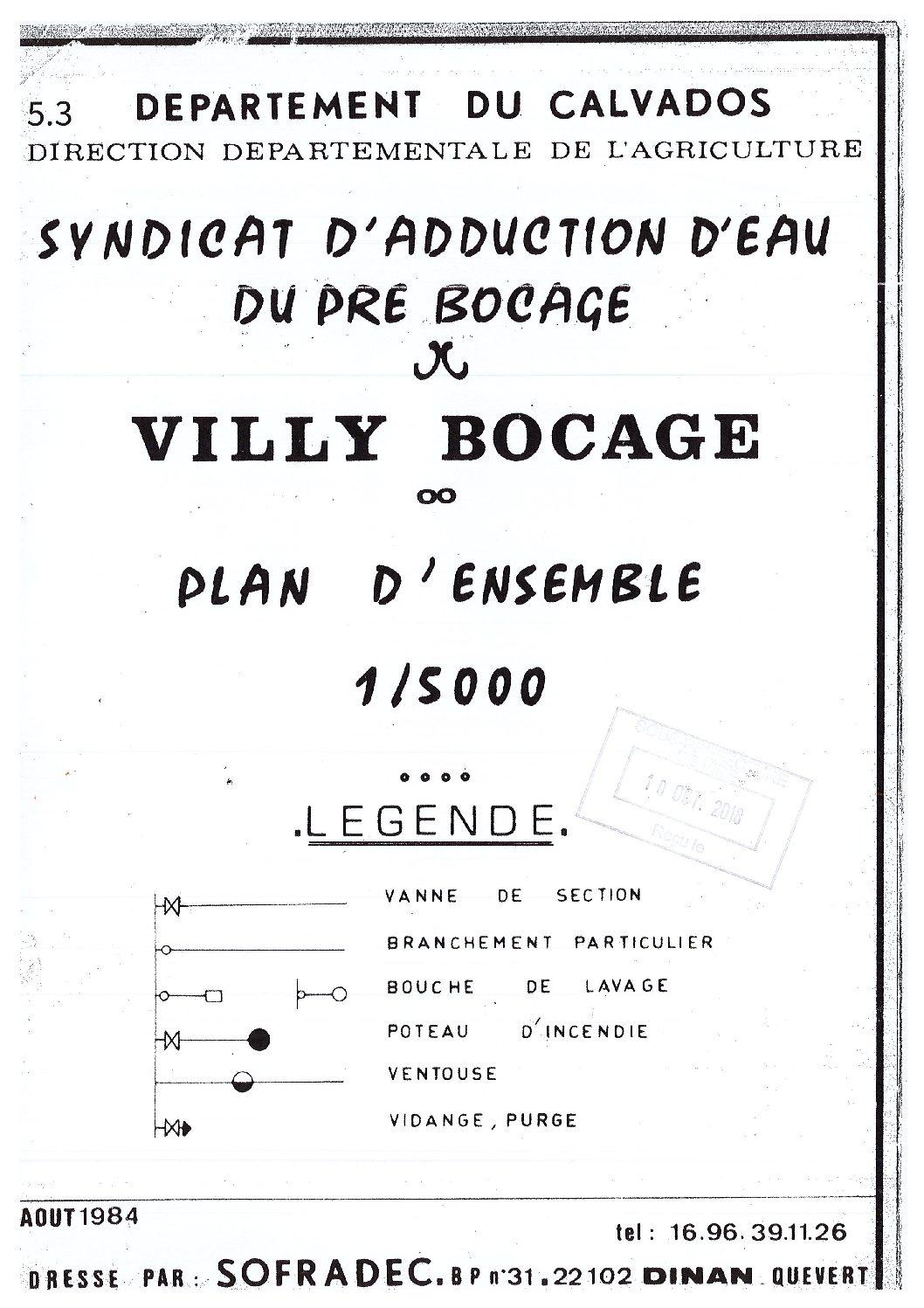 Villy-Bocage : Plan réseau eau potable