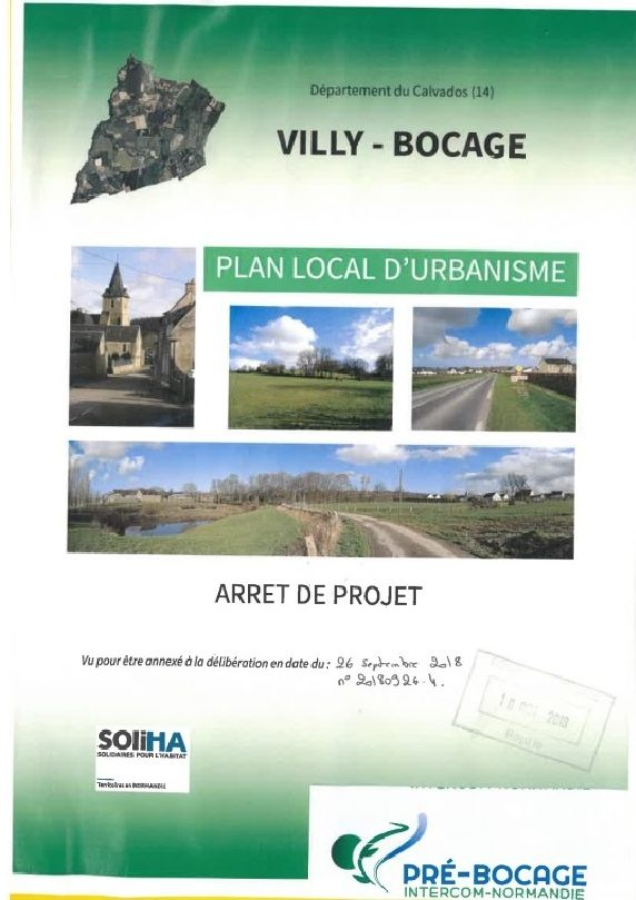 Villy-Bocage : page présentation intérieure et couverture