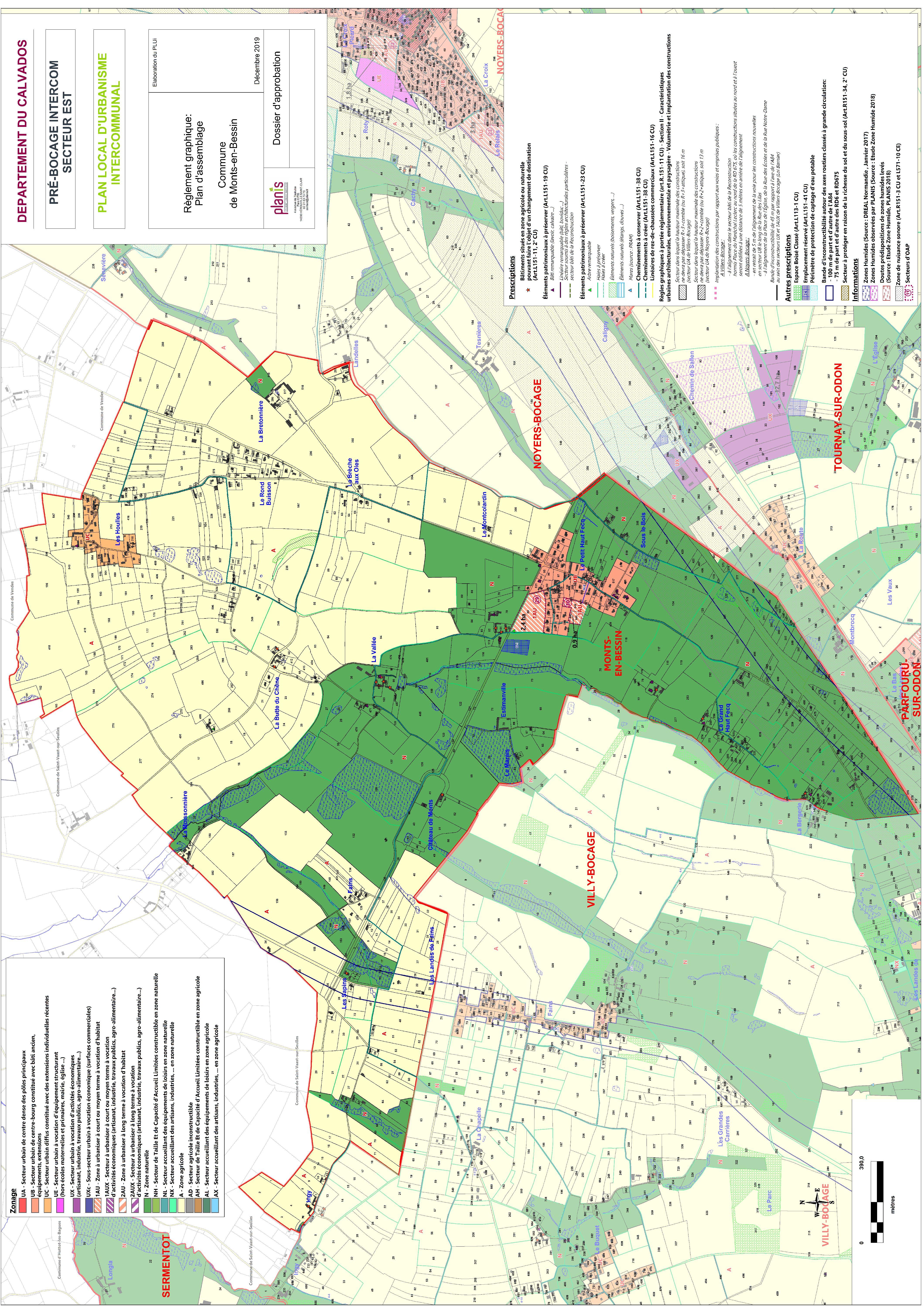 PLUi EST – Secteur 3 – Zonage Monts-En-Bessin