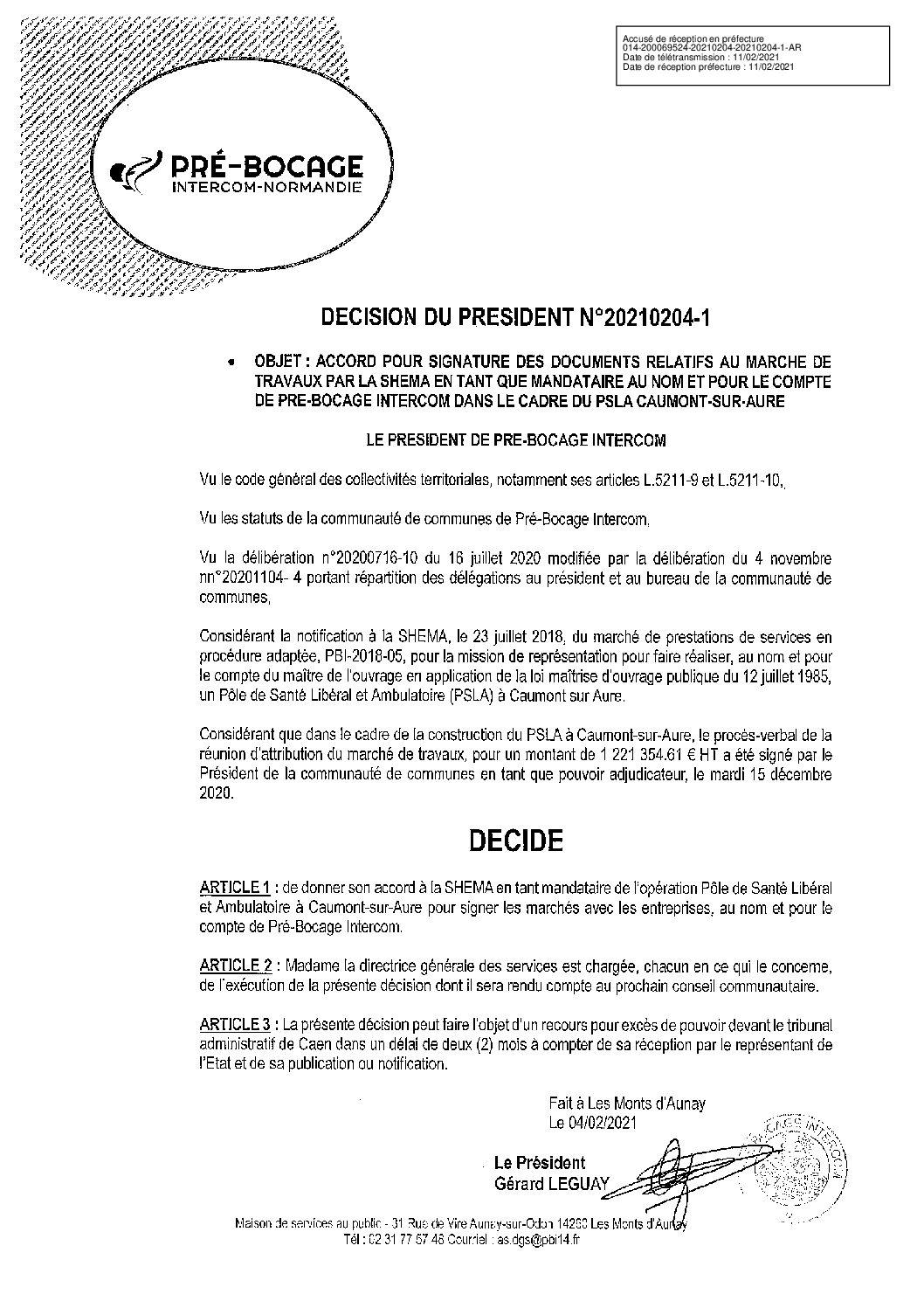 Décision déléguée du 4 février 2021