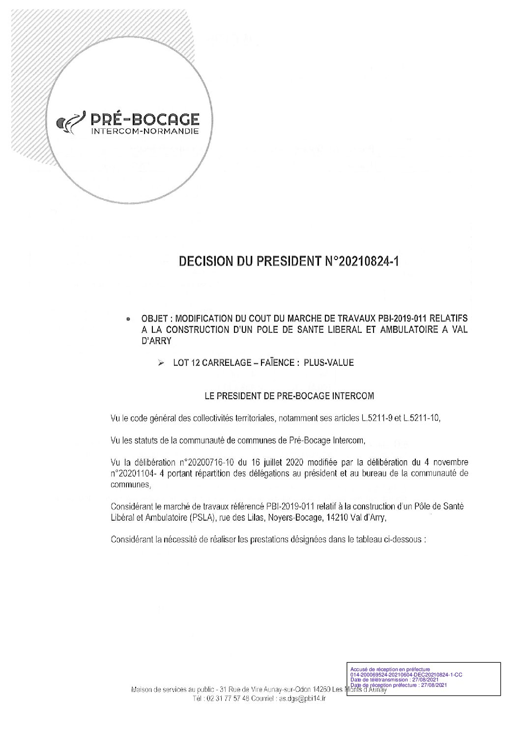 Décision déléguée du 24 août 2021