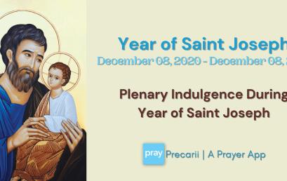 Plenary Indulgence during Year of Saint Joseph