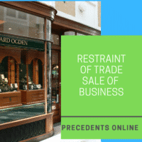 Restraint of Trade Sale of Business