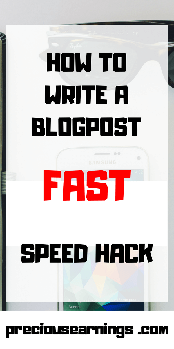 writing tip to help you write your blogpost fast