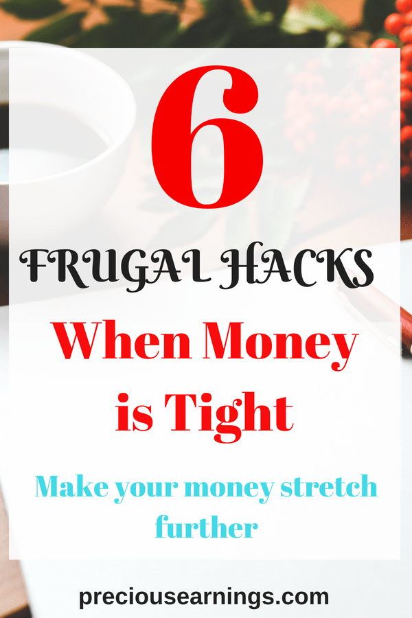 frugal hacks when money is tight