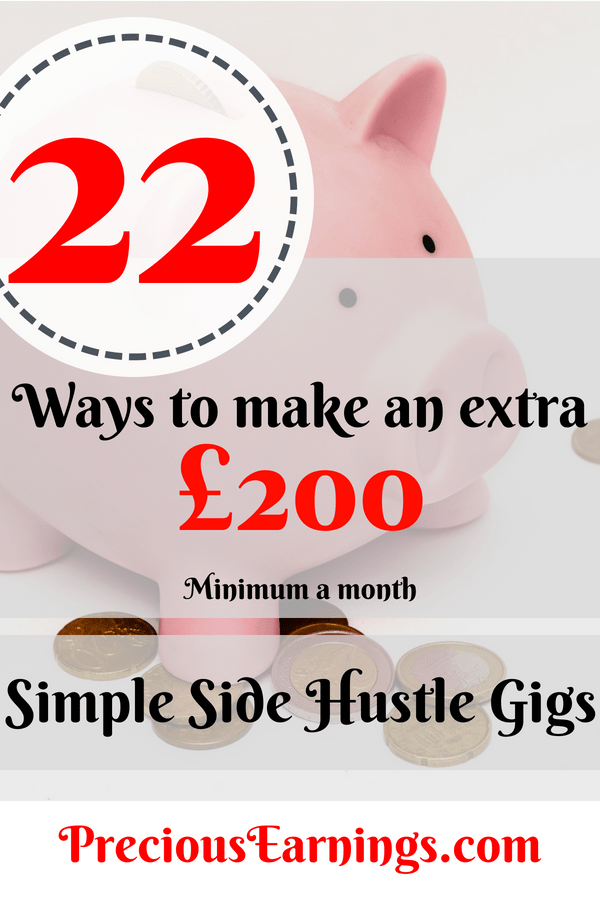 22 side hustle gigs £200