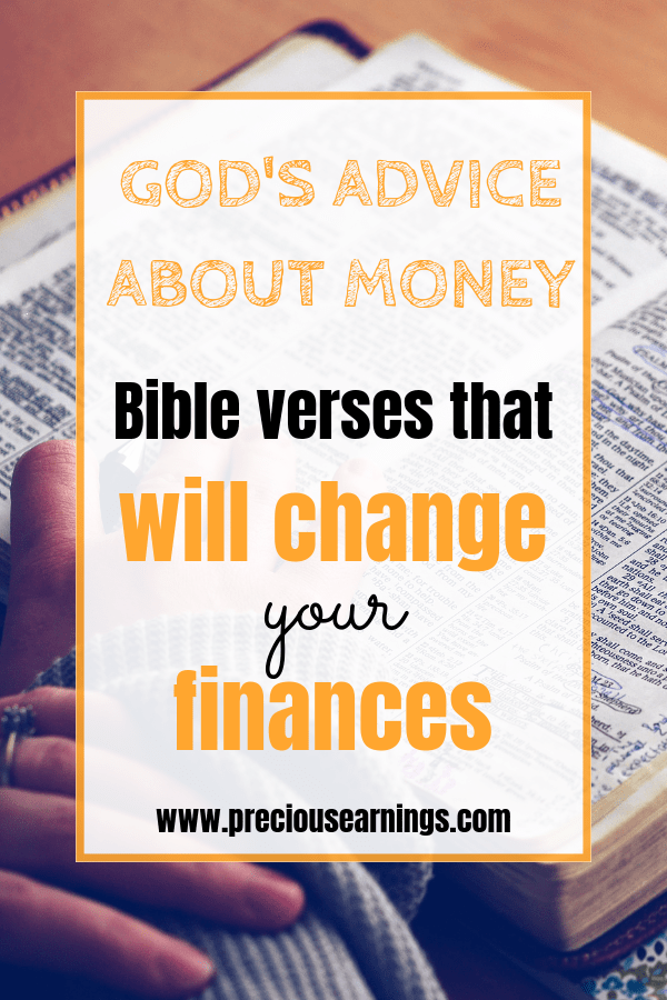 Gods Advice about money bible verses about money