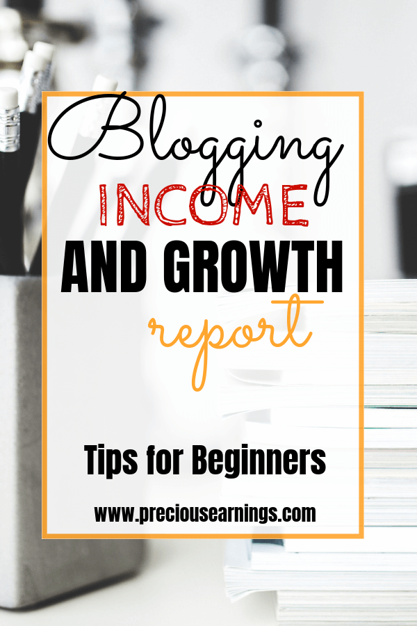 blogging income and growth report tips for beginners - blog income report 2