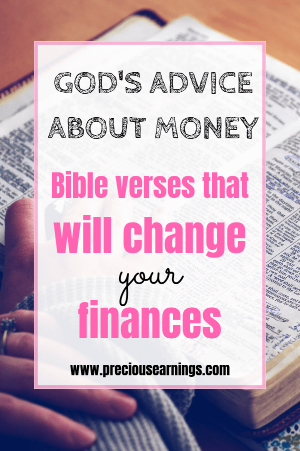 gods advice bible verses about finances