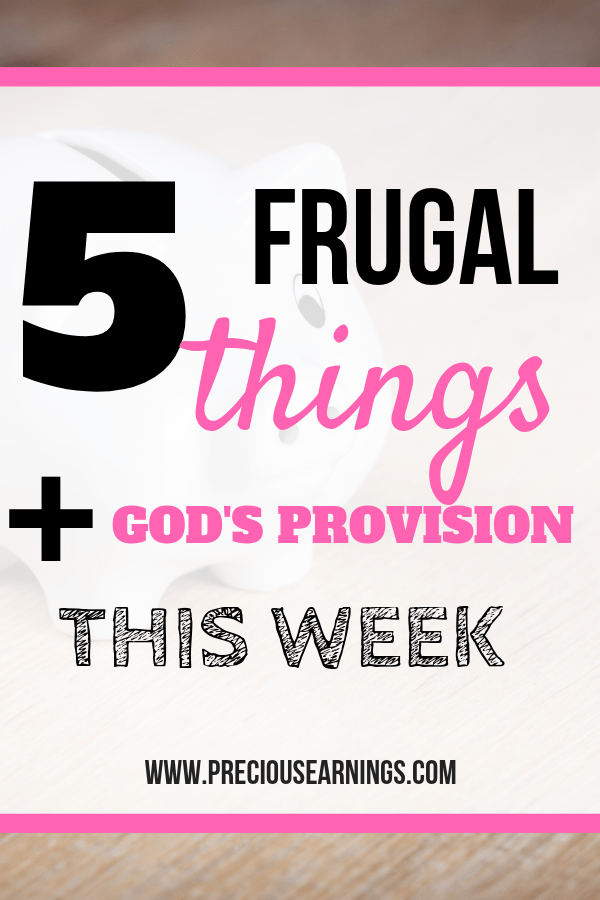 frugal plus Gods provision