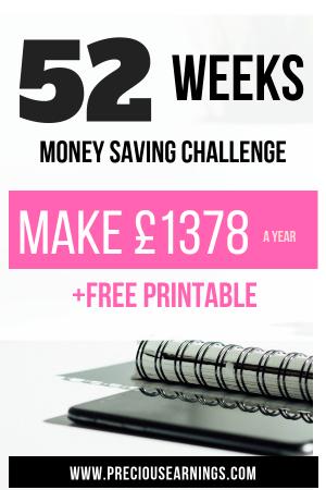 52 WEEK MONEY SAVING CHALLENGE PINTEREST