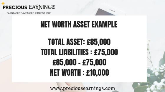 Net asset calculator example