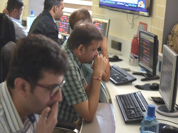 Sensex ends 64 points lower at 35593, DHFL dips 6%