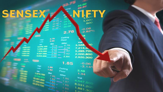 Sensex falls 425 points, Nifty settles at 10944 weighed by autos
