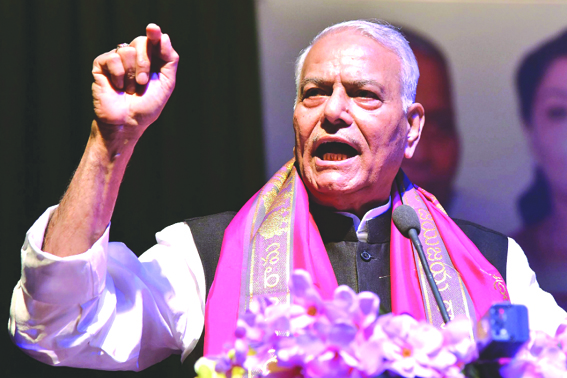 PM Modi's 56-inch chest only for Pakistan, says Yashwant Sinha