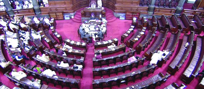 Opposition stages walkout in Rajya Sabha
