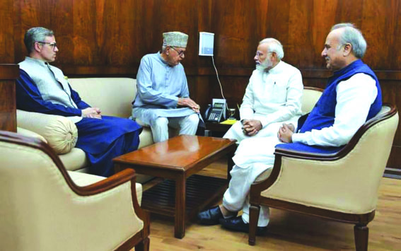 Don't touch Article 35-A, hold polls: NC delegation tells PM