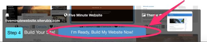 create a free website with siterubix step 4