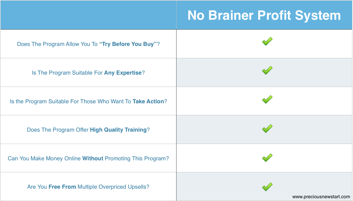 is no brainer profit system the best make money online program for you