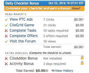 Clixsense bonus